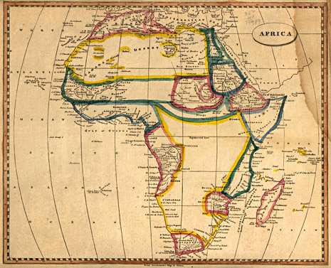 Map of Africa in 1812 by Arrowsmith and Lewis – Printed in Boston by Thomas & Andrews.